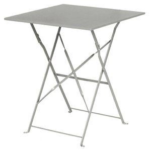 Bolero Opklapbare Stalen Vierkante Tafel Grijs - 71(H)x60x60cm