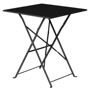 Bolero Steel Folding Square Table Black - 71 (H) x60x60cm