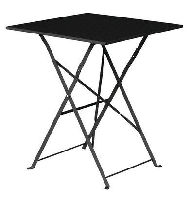 Bolero Steel Folding Square Table Black - 71 (H) x60x60cm