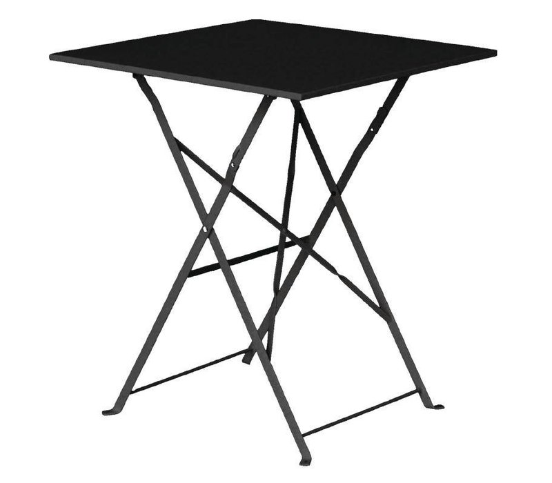 Bolero Stahl Folding Table Platz Black - 71 (H) x60x60cm