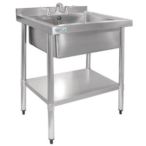 XXLselect Stainless Steel Sink | Hygienic | Upstand | 900 (H) X750 (b) x600 (d) mm