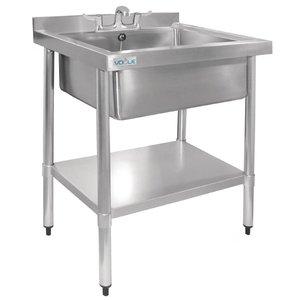XXLselect Stainless Steel Sink | Hygienic | Upstand | 900 (H) X750 (b) x600 (d) mm