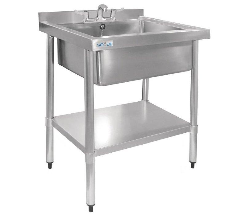 XXLselect Edelstahl-Waschbecken | Hygienic | Wandleiste | 900 (H) X750 (B) x600 (d) mm