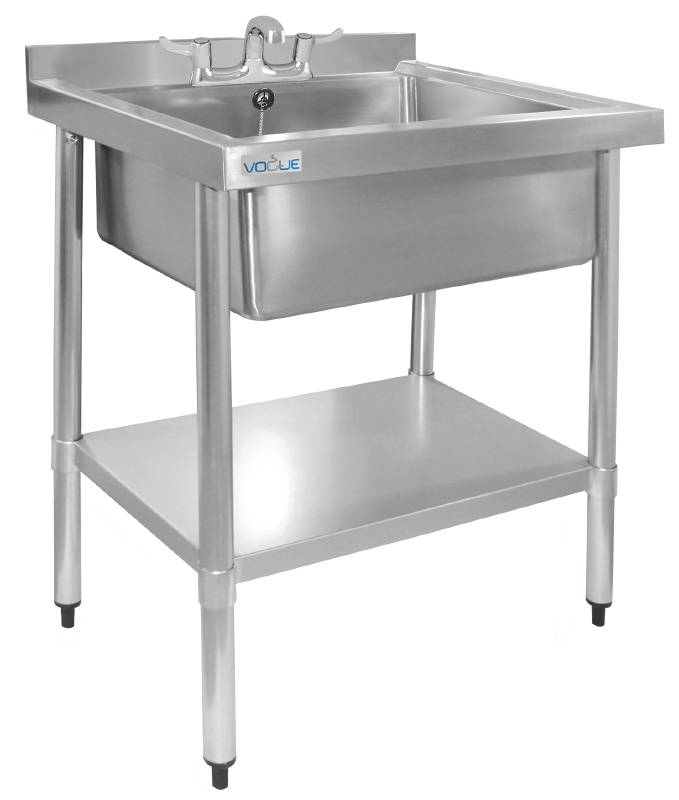 Stainless Steel Sink Stand : XXLselect Stainless Steel Sink Hygienic Upstand 900 (H) X750 (b ...