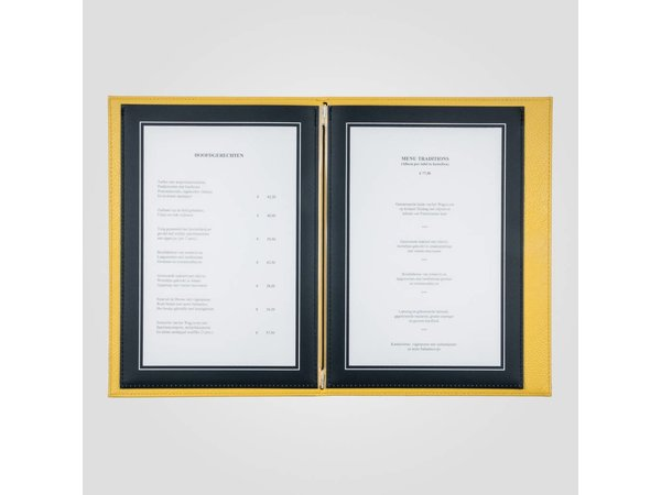 XXLselect Menü Trendline Farbe - Gelb A4