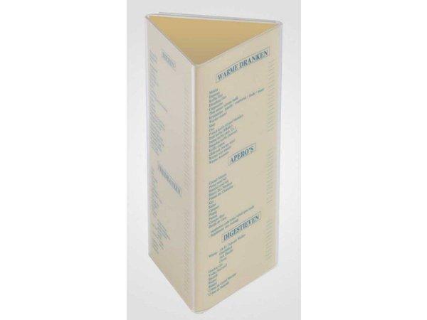 XXLselect Tafel Bordje Driehoek - Transparant