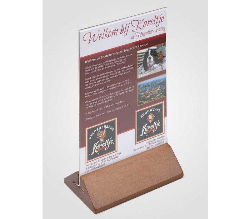 XXLselect Teller Tisch A6 - Transparent Kirschholz Füße