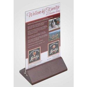 XXLselect Plate Table A5 - Transparent Cherry Wood Feet