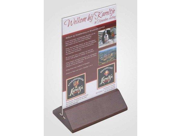 XXLselect Teller Tisch A5 - Transparent Kirschholz Feet