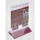 XXLselect Plate Table A6 - Transparent Bordeaux Foot
