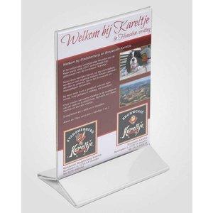 XXLselect Tischplatte A4 - klar, weiß Fuß