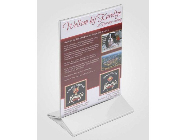 XXLselect Table Plate A4 - Clear White Foot