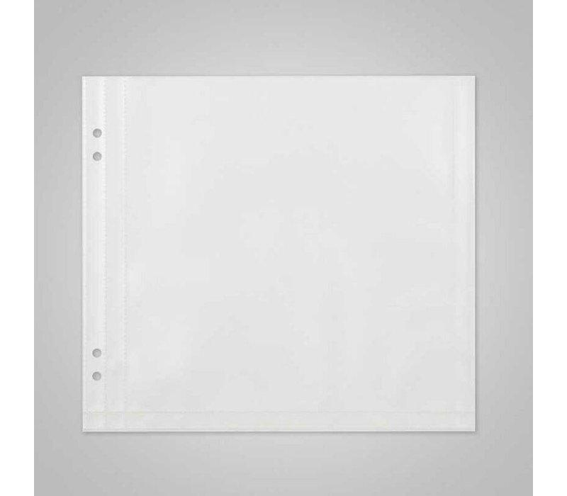 XXLselect Insteekhoezen Deluxe - Vierkant - 2 Leeszijdes - Prijs per 10 stuks