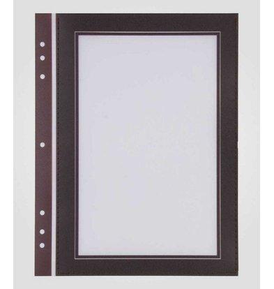 XXLselect Quadrat-Format Passepartout Brown