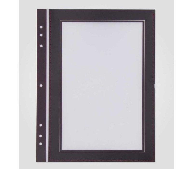 XXLselect Quadrat-Format Passepartout Bordeaux