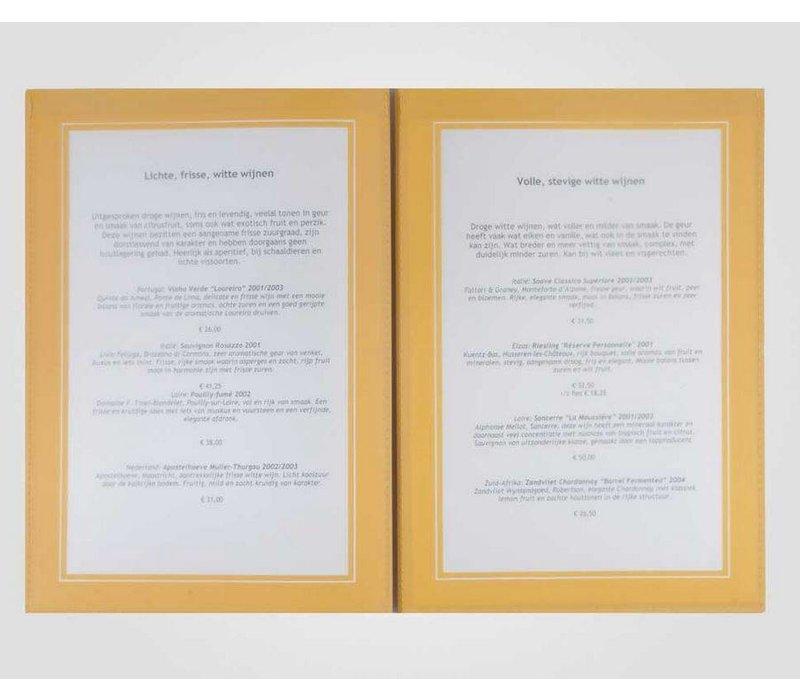 XXLselect Menu Omni Holzrahmen - A4 und A45
