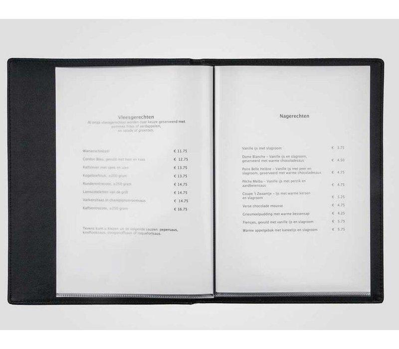 XXLselect Menu Klassische Calf - simili Kalbsleder - Bordeaux A4