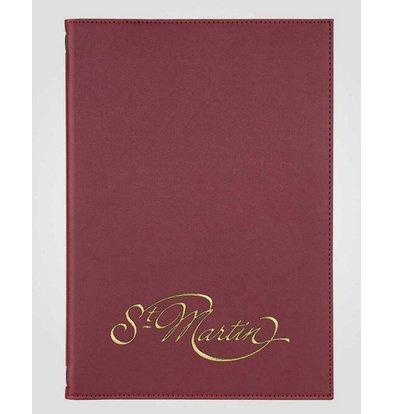 XXLselect Menu Klassische Eleganz - Kunstleder - Bordeaux A5