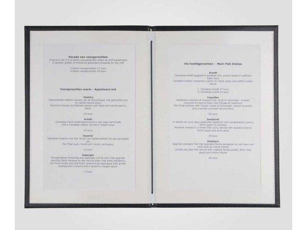 XXLselect Menu Klassische Eleganz - Kunstleder - Bordeaux A4