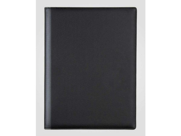 XXLselect Menu Klassische Eleganz - Kunstleder - schwarz A4