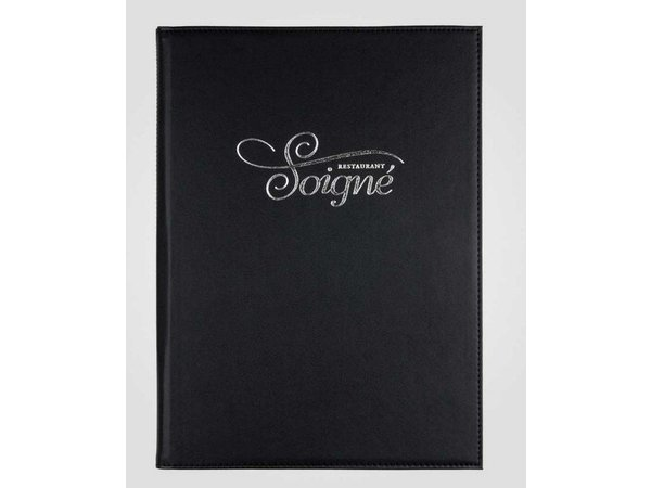 XXLselect Simi-Leather Menumap - Hoogwaardig Kunstleer - Bordeaux A4 - 4 Leeszijdes