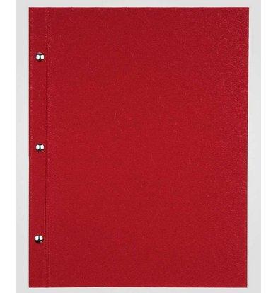 XXLselect Menukaart Library Fibre - Rood A4