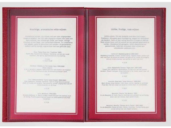 XXLselect Menu Bibliothek Fibre - Red A4