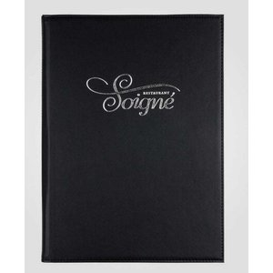 XXLselect Menu Gastro Leather 2 reading south - Black A4