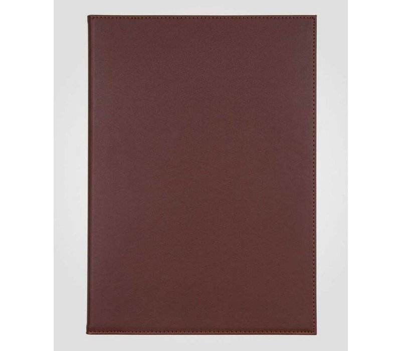 XXLselect Simi-Leather Menumap - Hoogwaardig Kunstleer - Zwart A4 - 2 Leeszijdes
