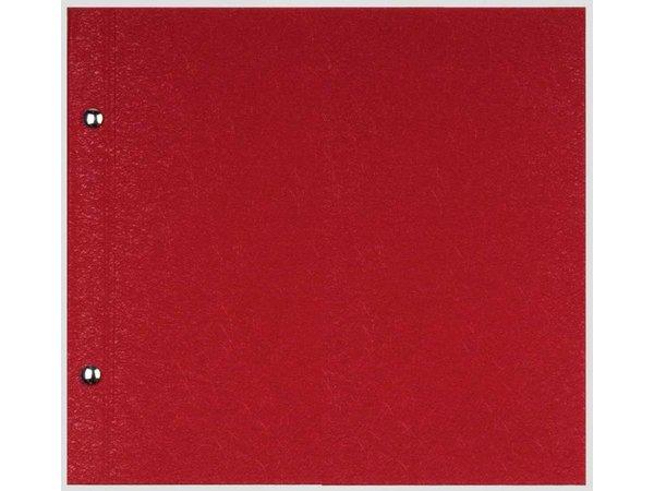 XXLselect Menukaart Library Fibre - Rood - Vierkant Model