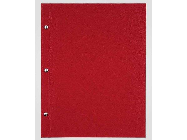 XXLselect Menukaart Library Fibre - Rood A5