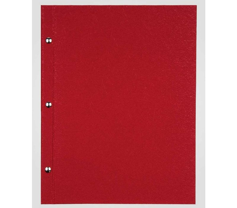 XXLselect Menu Library Fibre - Red A5