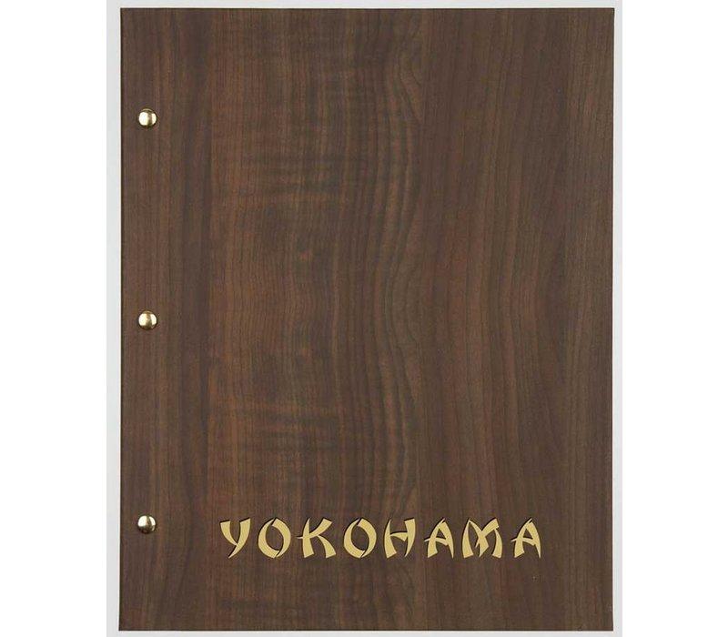 XXLselect Menukaart Library Wood - Donker Eiken A5