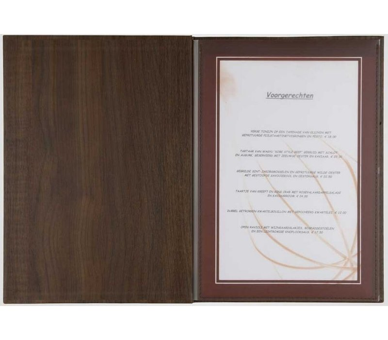 XXLselect Menu Library Wood - Beech Oak A5