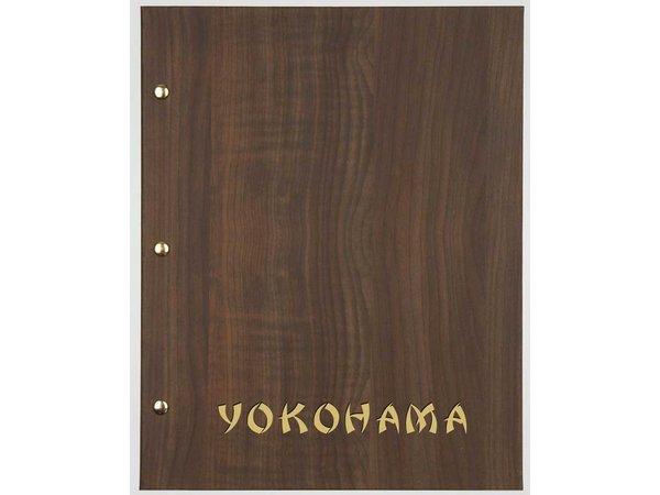 XXLselect Menukaart Library Wood - Donker Eiken - Vierkant Model