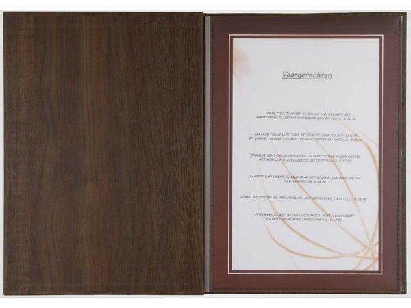 XXLselect Menukaart Library Wood - Beuken Eiken - Vierkant Model