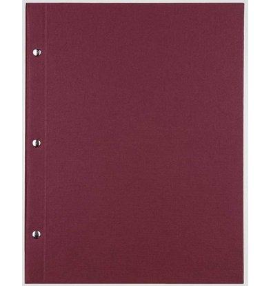 XXLselect Bibliothek Classic - Leinen-Menü-Karten - A4 - Bordeaux
