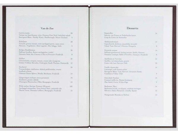 XXLselect Library Classic - Linen Menu Cards - A4 - Bordeaux