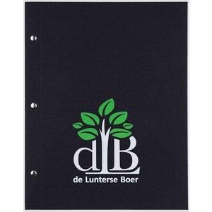 XXLselect Library Classic - Linen Menu Cards - A4 - Black