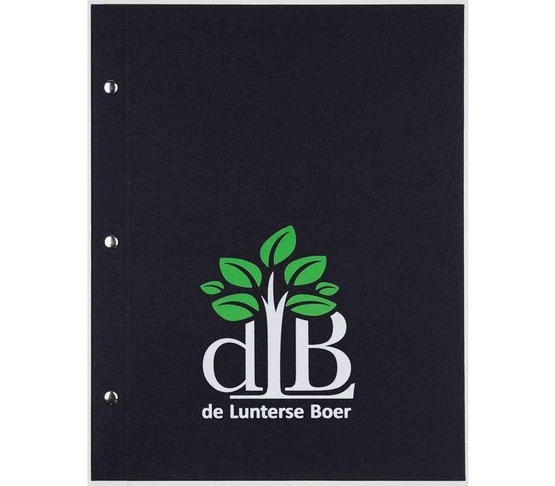 XXLselect Library Classic - Linnen Menukaarten - A4 - Zwart