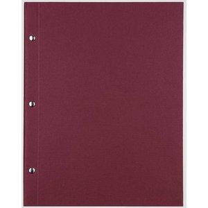 XXLselect Bibliothek Classic - Leinen-Menüs - Platz Modell 21x21cm - Bordeaux