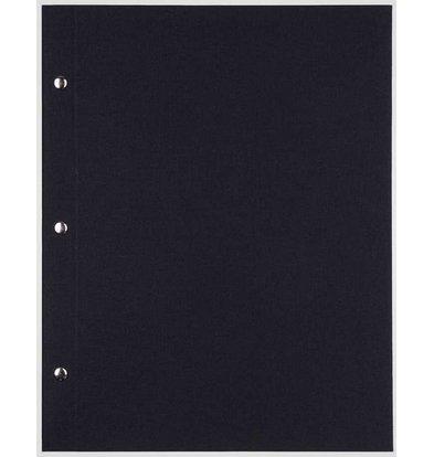 XXLselect Library Classic - Linen Menus - Square Model 21x21cm - Black