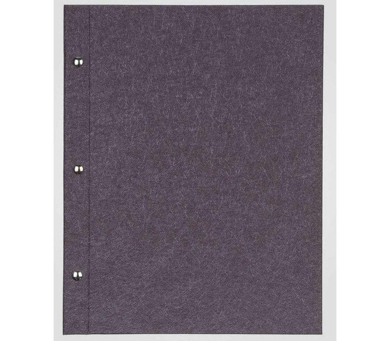 XXLselect Menukaart Library Fibre - Aubergine A5