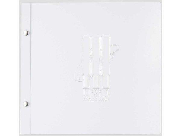 XXLselect Menukaart Metal Light - Wit Metallic - Vierkant model