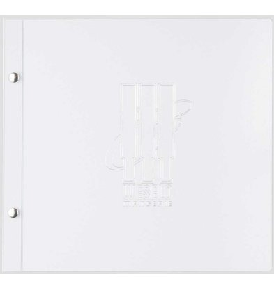 XXLselect Light Metal Menu - White Metallic A4