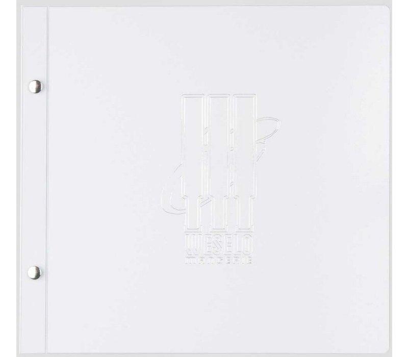 XXLselect Light Metal Menu - White Metallic A4