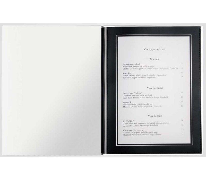 XXLselect Menukaart Metal Light - Zwart Metallic A4