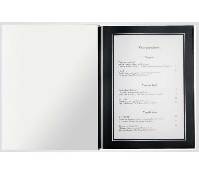 XXLselect Menu Light Metal - Aluminum A4