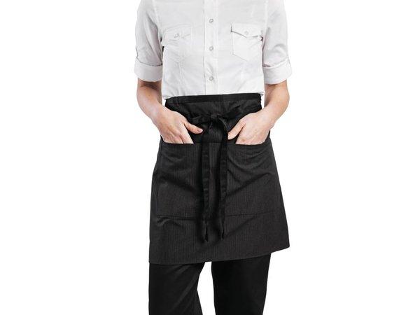 XXLselect Chef Works Wide Waist Half pinstripe shirt - 48 (W) x 48 (L) cm - Black - Unisex