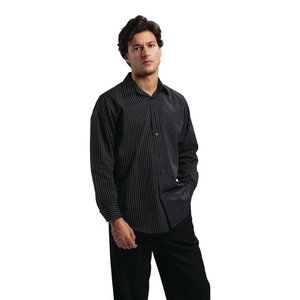 XXLselect Uniform Works pinstripe long sleeve polyester-cotton shirt - Available in 4 sizes